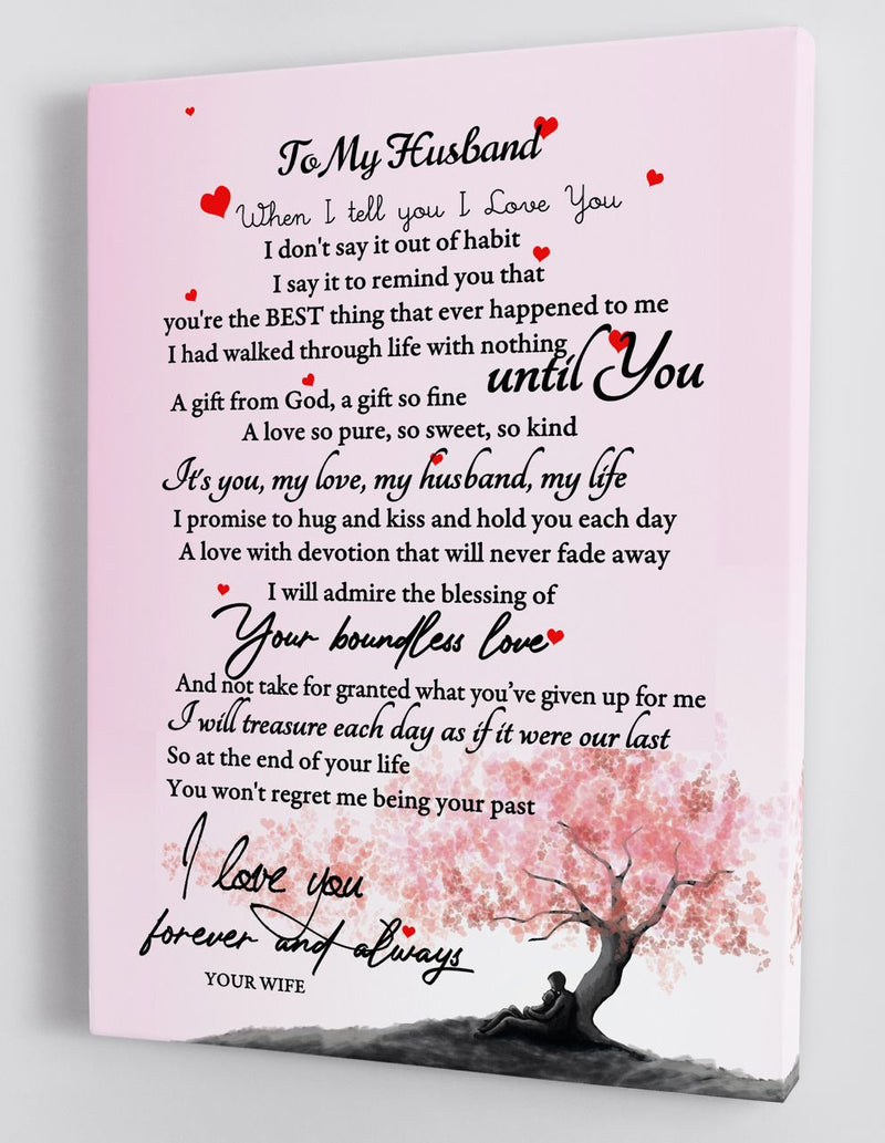 To My Husband - Love From Your Wife - Framed Canvas Gift WH001