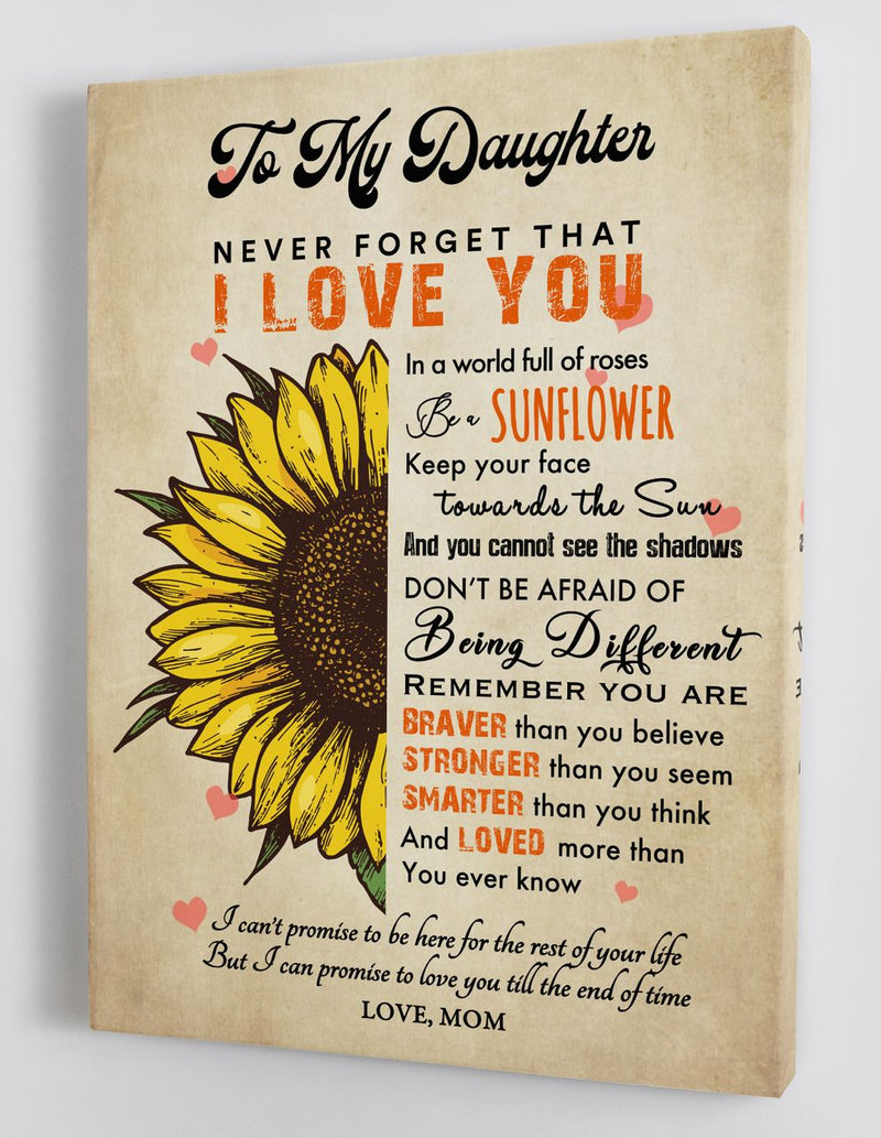 To My Daughter - From Mom - Hard Time Framed Canvas Gift MD089