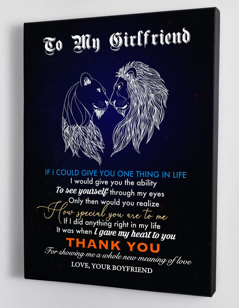 To My Girlfriend - From Boyfriend - Framed Canvas Gift HW007