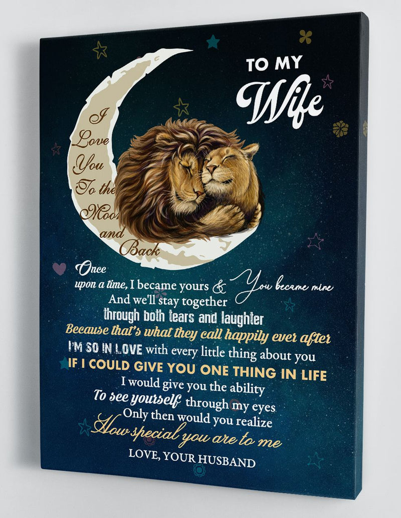 To My Wife - From Husband - Framed Canvas Gift HW011