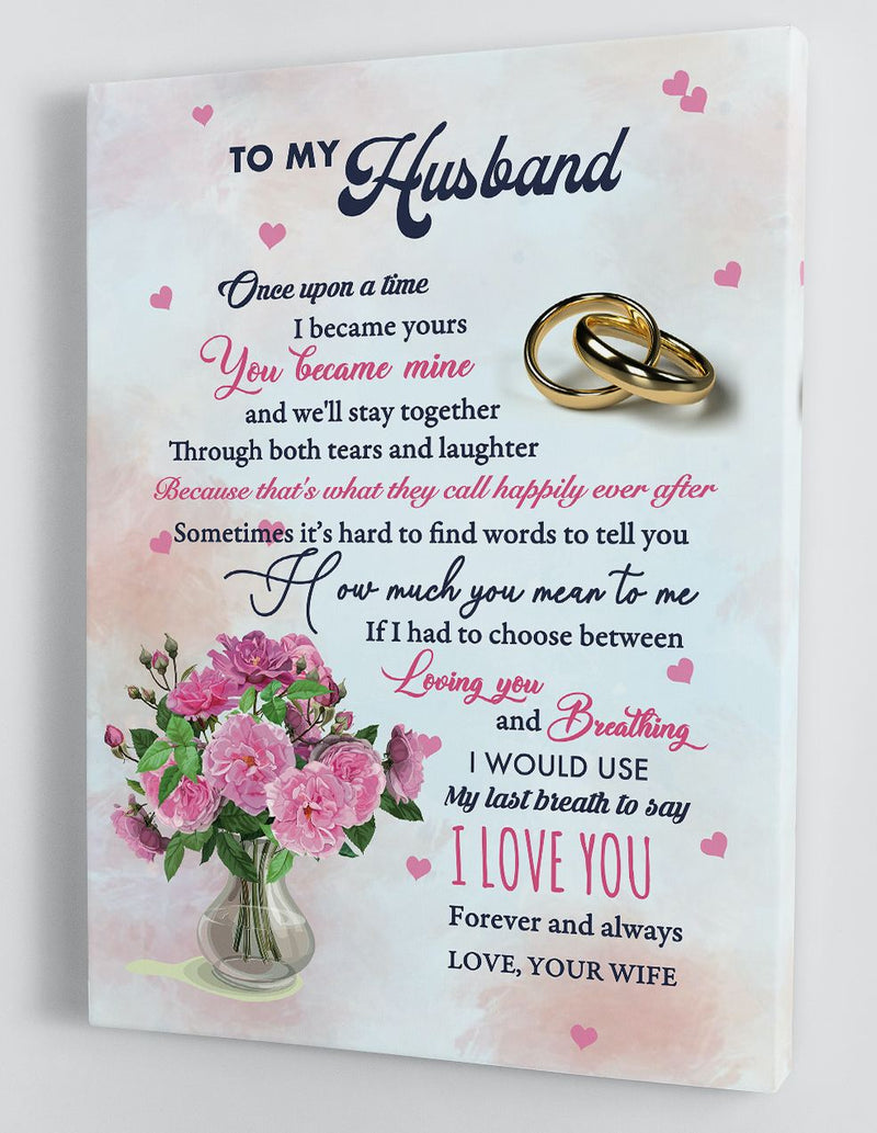 To My Husband - From Wife - Framed Canvas Gift WH008