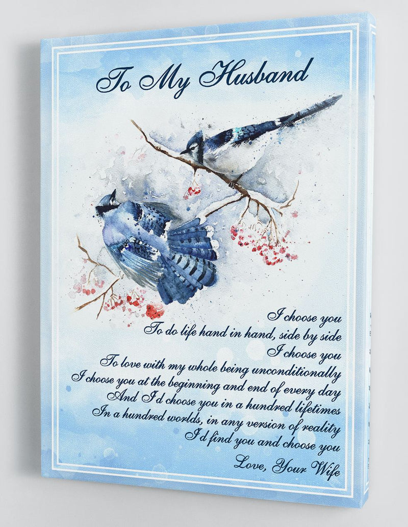 To My Husband - From Wife - Framed Canvas Gift WH012