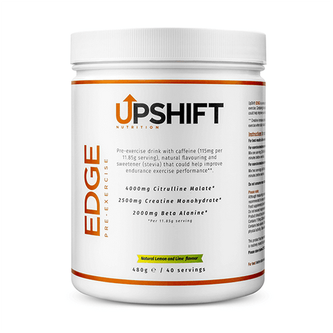 upshift nutrition edge pre exercise tub