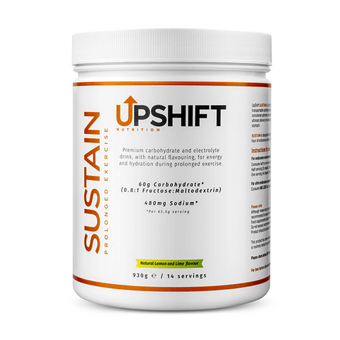 upshift nutrition sustain 0.8:1 fructose maltodextrin ratio energy drink tub