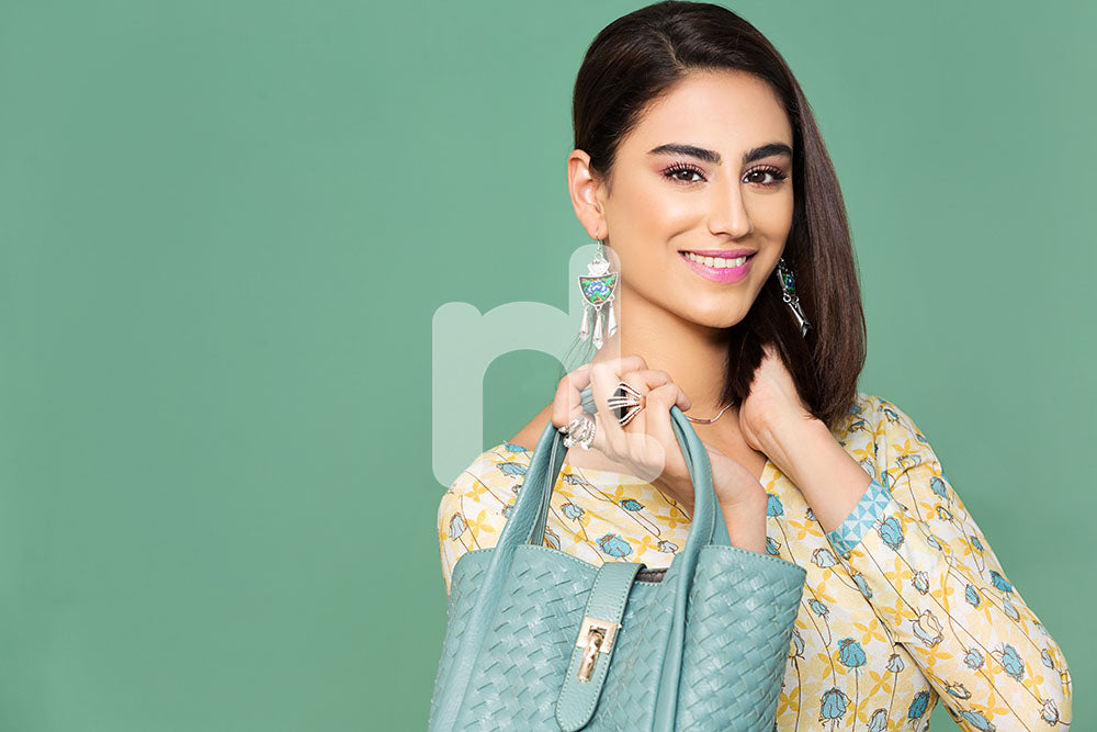 41801943- Yellow Printed Cotton Shirt Fabric Per Meter (PKR 470/) - 1PC