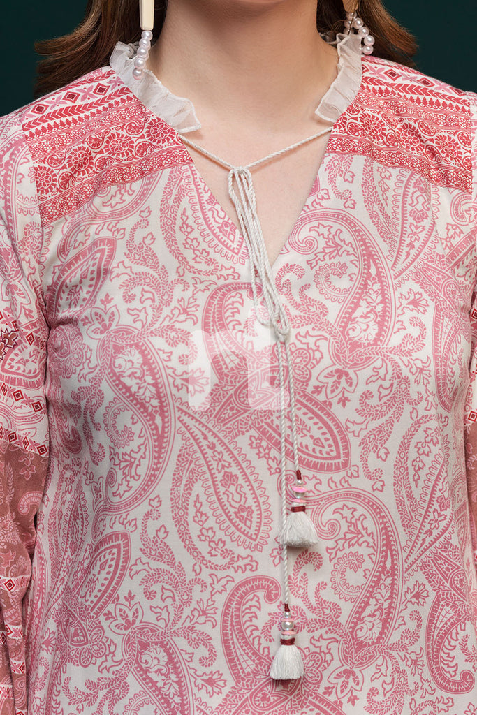 41901088-Linen - Pink Printed 3PC