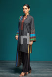 41901090-Linen - Black Printed 3PC