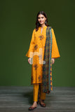41901114-Khaddar & Karandi - Yellow Printed Embroidered 3PC