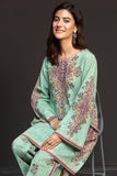 41901149-Cotton Karandi - Green Digital Printed 2PC