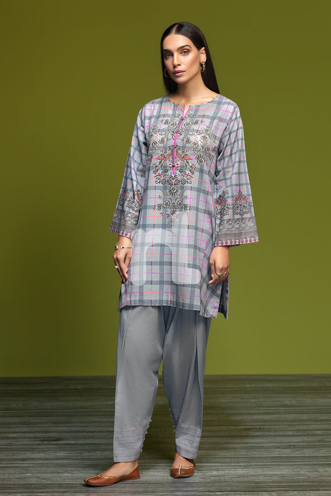 41901187-Khaddar - Grey Digital Printed 2PC