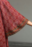 41901234- Red Printed Linen Fabric Per (PKR 445/-) Meter-3PC