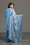 41901251- Light Blue Printed Khaddar Fabric -3PC