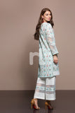 41906007-Lawn - Green Printed 2PC