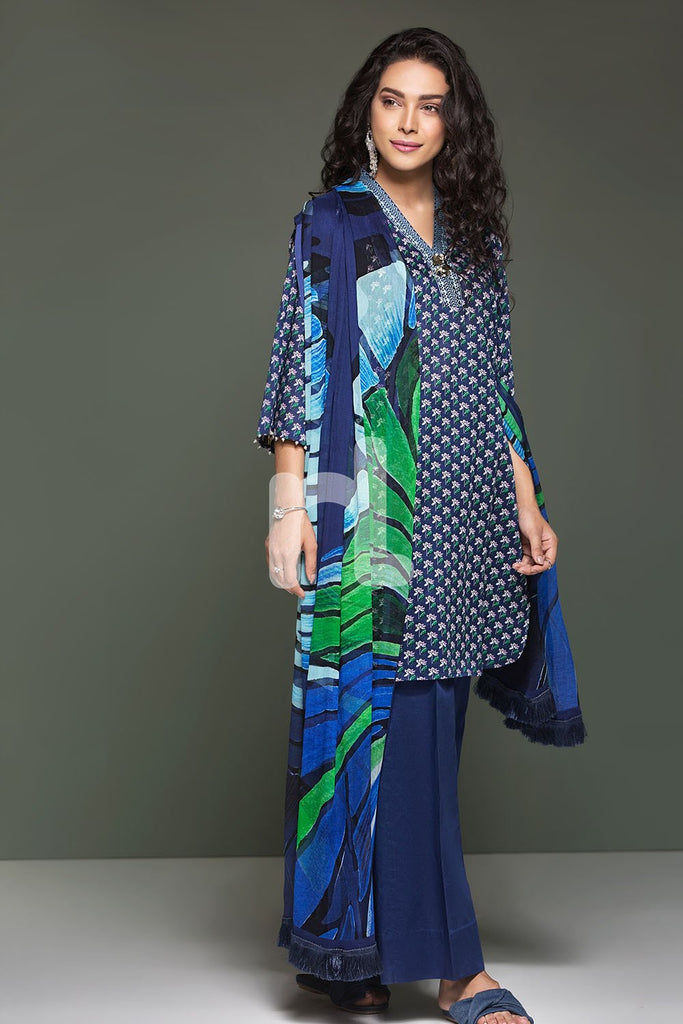 41906106-Lawn & Cambric - Blue Printed 2PC