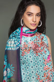 41906113-Lawn & Krinckle Chiffon - Blue Digital Printed Embroidered 3PC