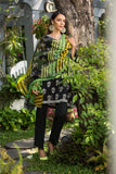 41907226-Viscose Net & Slub Lawn - Black Printed 2PC