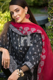 41907228-Viscose Net & Slub Lawn - Black Digital Printed 2PC