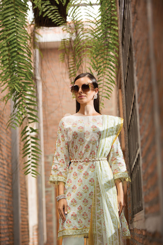 41907279-Lawn- Green Printed 3PC