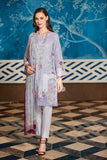 41907285-Crinkle Chiffon, Slub Lawn & Cambric - Purple Printed Embroidered 3PC