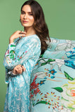 42001030-Digital Printed Lawn & Voil 2PC