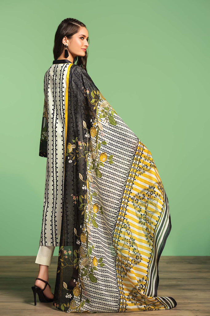 42001032- Printed Embroidered Lawn, Cambric & Voil 3PC