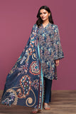 42001054- Printed Lawn, Cambric & Voil 3PC