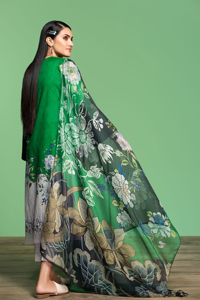 42001065-Digital Printed Embroidered Lawn, Cambric & Chiffon 3PC