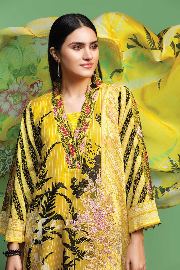42001068- Digital Printed Embroidered Lawn, Cambric & Chiffon 3PC