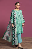 42001082- Printed Embroidered Lawn, Cambric & Rib Voil 3PC