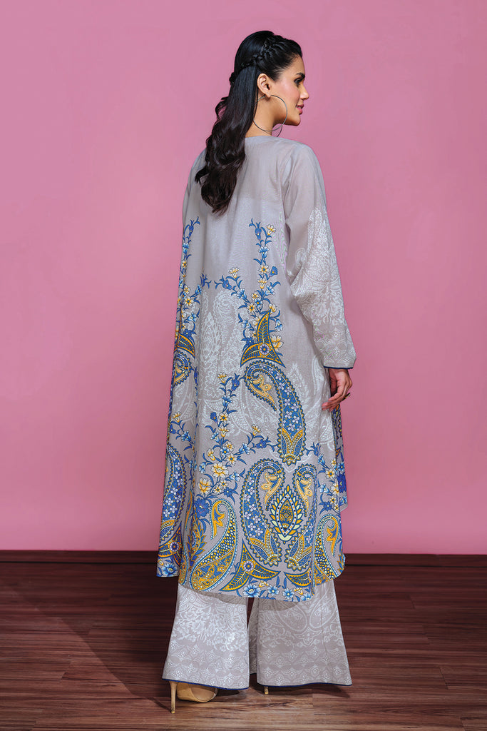 42001306-Digital Printed Lawn & Cambric 2PC