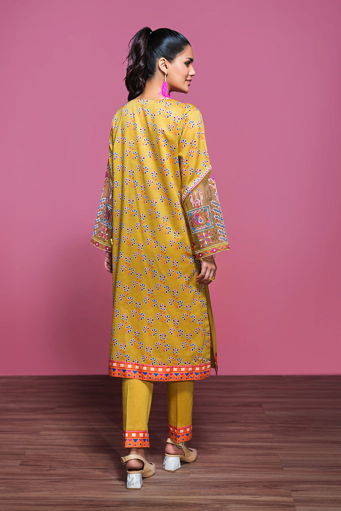 42001315- Printed Embroidered Lawn & Cambric 2PC