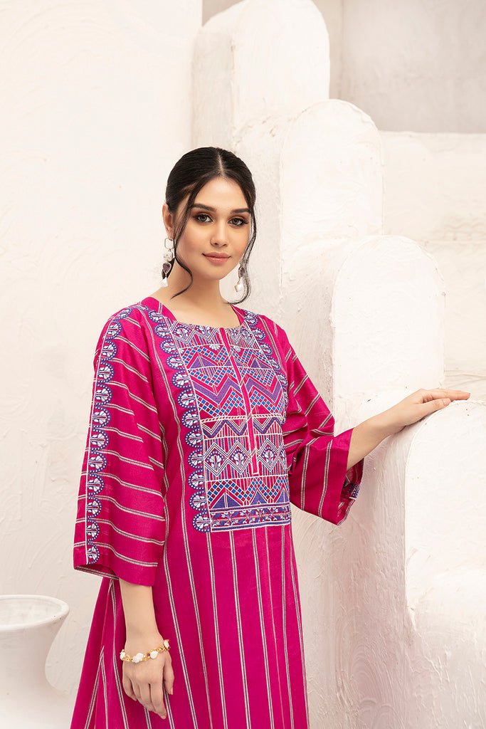 42001635-Embroidered Printed Super Fine Lawn & Cambric -2PC