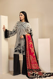 42003425-Printed Embroidered Karandi, Wool Shawl 3PC