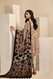 42003427-Printed Embroidered Karandi, Wool Shawl 3PC