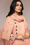 42003444- Digital Printed Khaddar, Embroidered Shawl 3PC