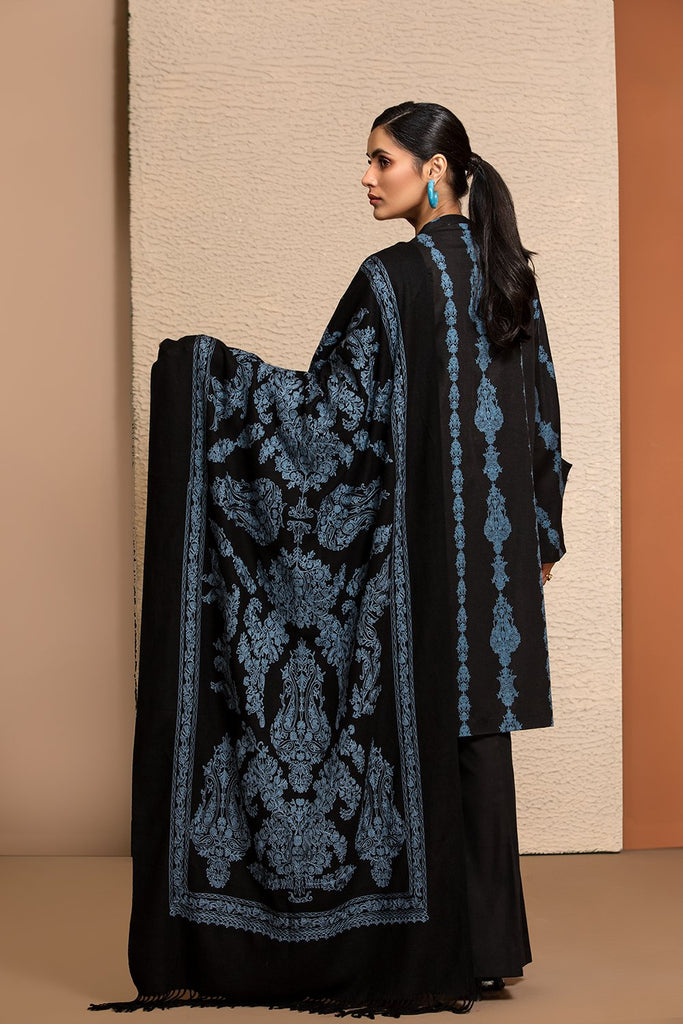 42003461-Printed Karandi, Embroidered Shawl 3PC