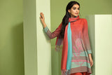 42003470- Digital Printed Khaddar, Woven shaded Shawl 3PC