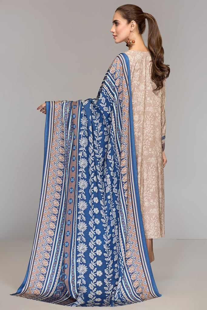 42003497- Printed Embroidered Linen 3PC