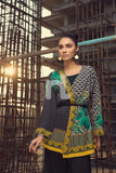 FS19-13 Black Digital Printed Stitched Micro Modal Fusion Jacket - 1PC