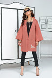 FS20-17 Dyed Embroidered Slub Lawn Fusion Jacket - 1PC