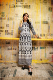 FS20-42 Digital Printed Micro Modal Long Fusion Dress - 1PC