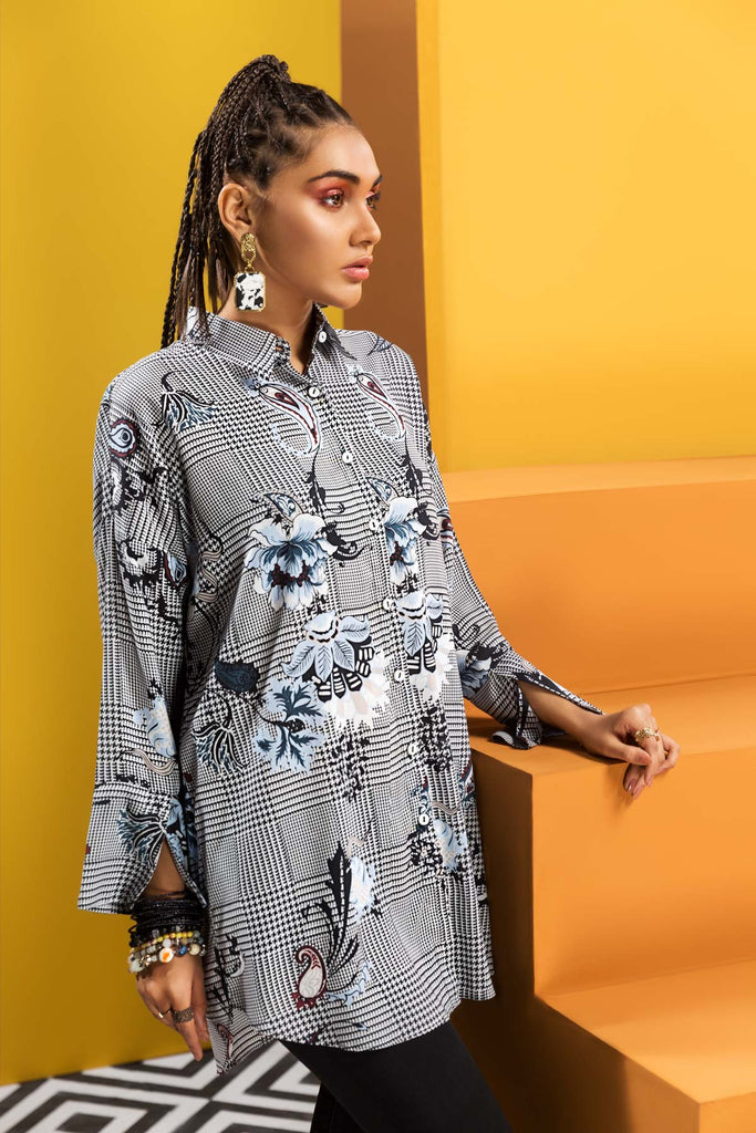 FW19-26 Digital Printed Modal Fusion Top - 1PC