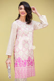 PS17-162 Off White Digital Printed Embroidered Stitched Lawn Shirt - 1PC