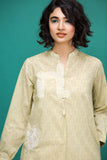 PS17-196 Beige Printed Embroidered Stitched Lawn Shirt - 1PC