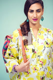 PS17-301 Yellow Digital Printed Stitched Lawn Shirt - 1PC