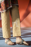 PS18-10 Skin Embroidered Stitched Chikan Trouser for Women