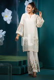 PS19-130 Off White Digital Printed Stitched Lawn Shirt - 1PC