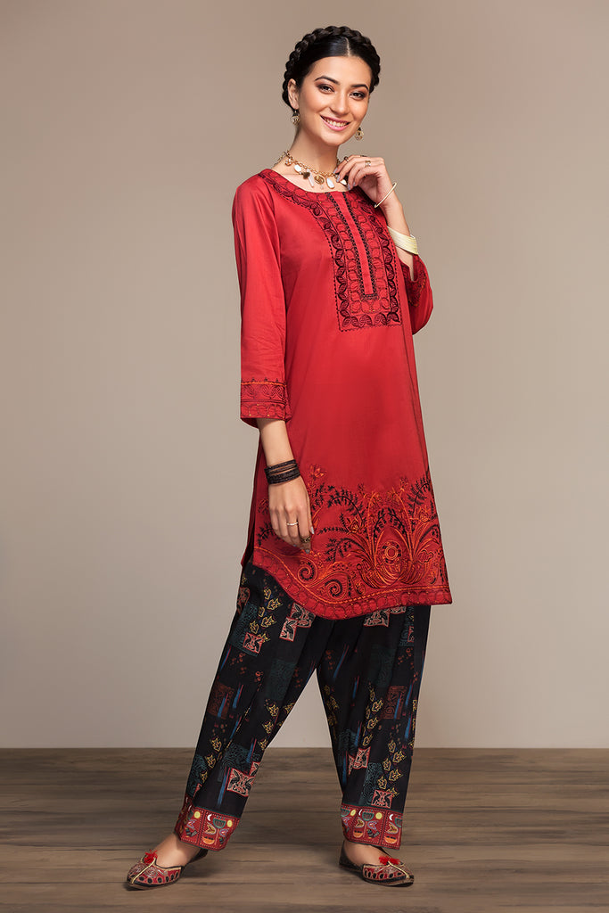 PS20-104 T Dyed Printed Shalwar - 1PC