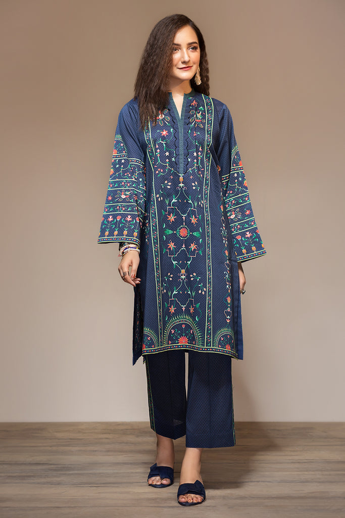 PS20-111 Digital Printed Stitched Lawn Shirt & Printed Trouser - 2PC