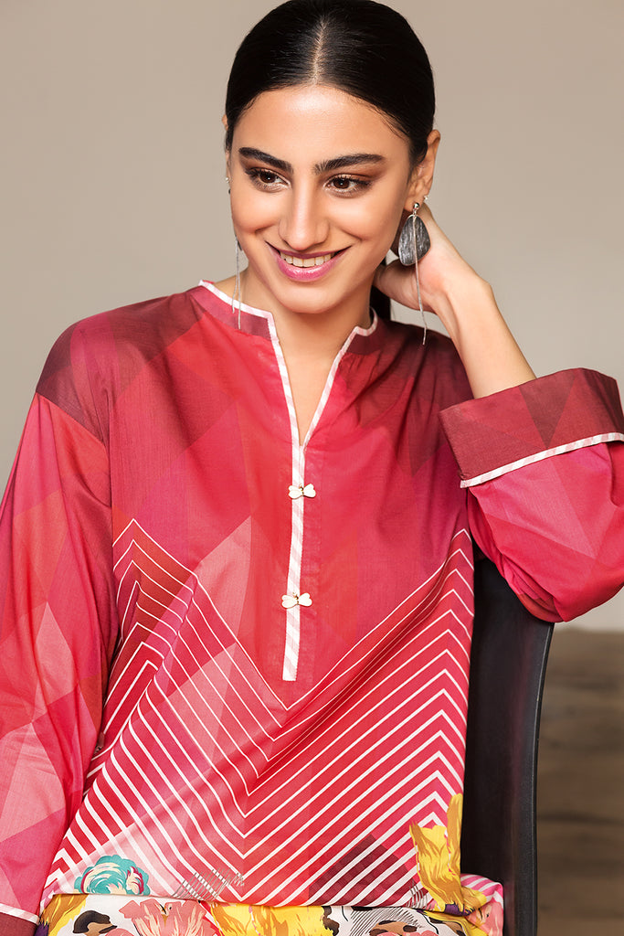 PS20-117 Digital Printed Stitched Lawn Shirt - 1PC